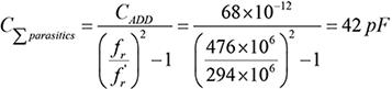Step 4. Calculate C∑parasitics