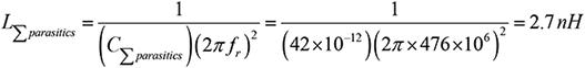 Step 5. Calculate L∑parasitics