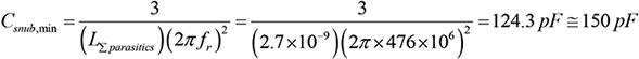 Step 6. Calculate Csnub,min