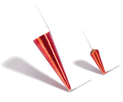 """Figure 1 """"Flying lead"""" conical inductor"""