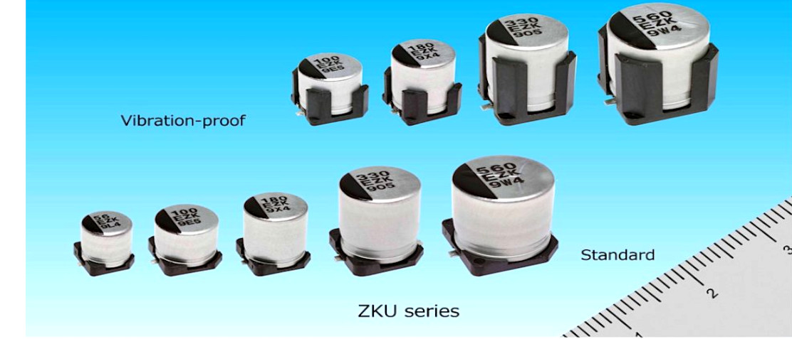 New conductive polymer hybrid aluminun electrolitic capacitors