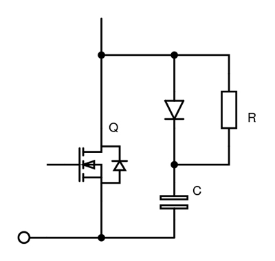 2. Switch snubbing of IGBT or MOSFET.