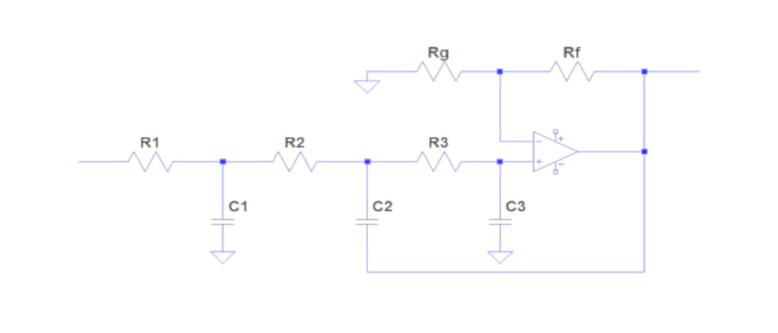Third order low pass filters with a single op amp | doEEEt com