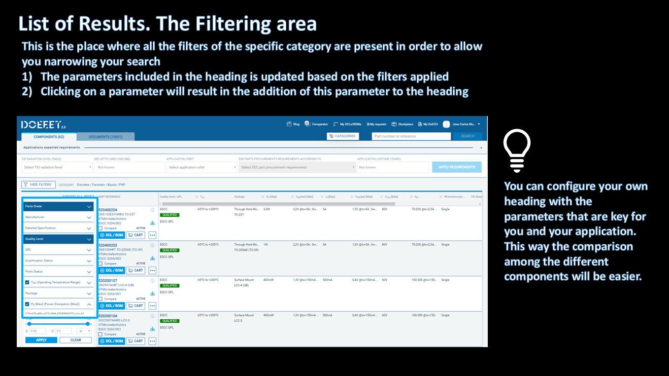 Filtering area doEEEt.com