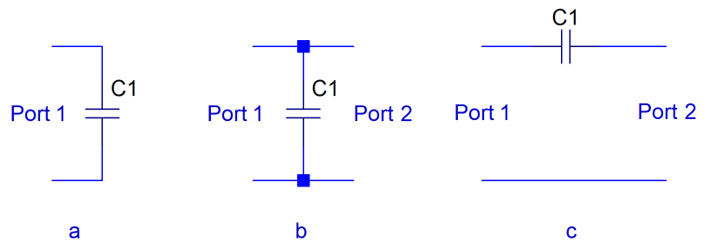 One and two-port capacitor models.