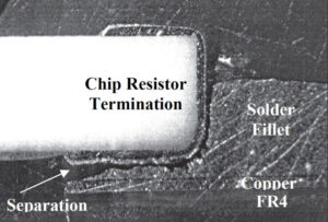 Cross Section of Failed Solder Joint