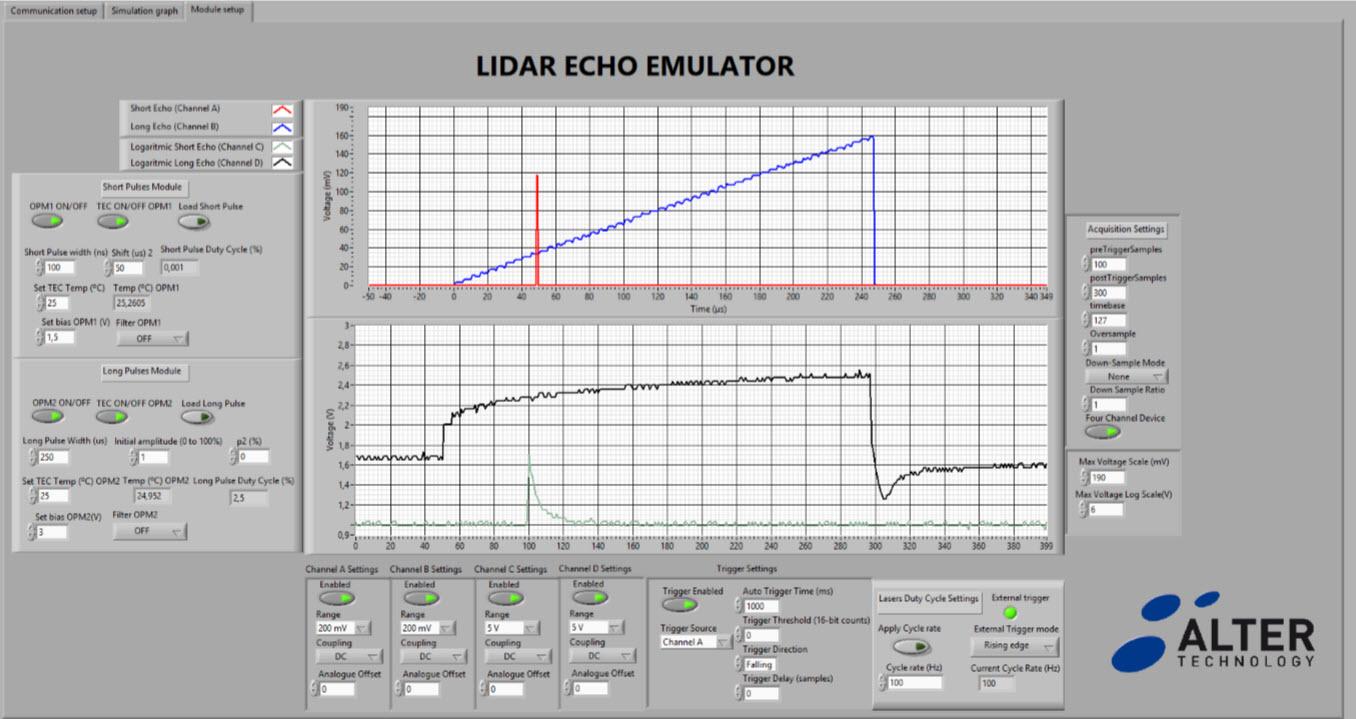 Lidar Echo emulator