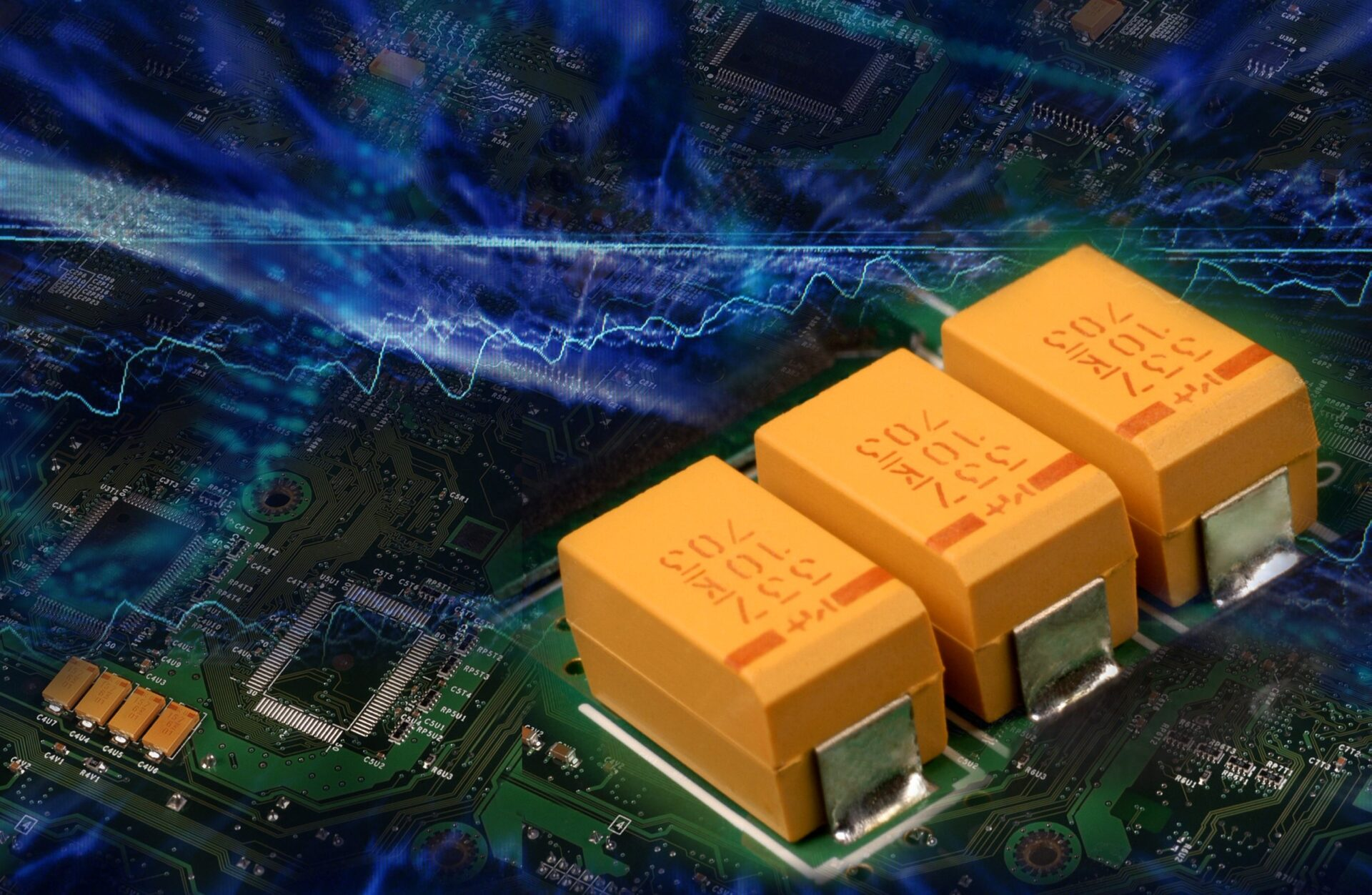 Tantalum solid capacitors Kemet