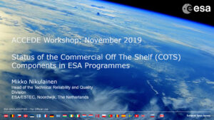 Status of the ESA COTS initiative