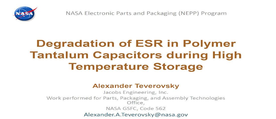 ESR Degradation in Polymer Tantalum Capacitors during Hi Temp Storage