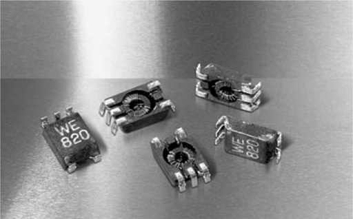 MnZn current-compensated SMD filter