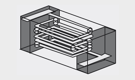 Structural schematics of multilayer SMD inductors