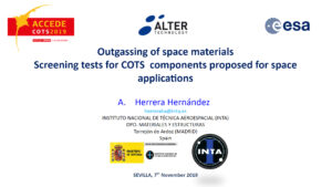 Outgassing of space materials, screening tests for COTS components proposed for space applications