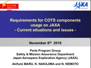 Requirements for COTS components usage on JAXA – Current situations and issues