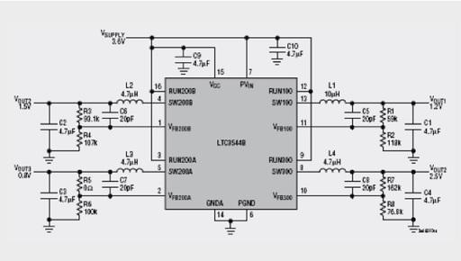 Circuit LTC3544B