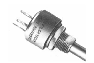 Example of a bushing mount potentiometer. Manufacture Vishay Sfernice.