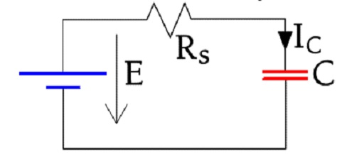 Figure C3-20. Charge circuit for a capacitor.