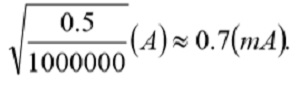 This value is well below the absolute maximum current derived from