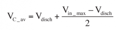 Where Vin_max is the peak value of the rectified voltage (Vin_max= • Vline}, Vdisch is the discharge voltage