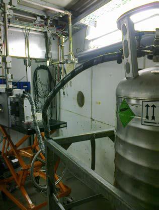 Proton radiation set-up