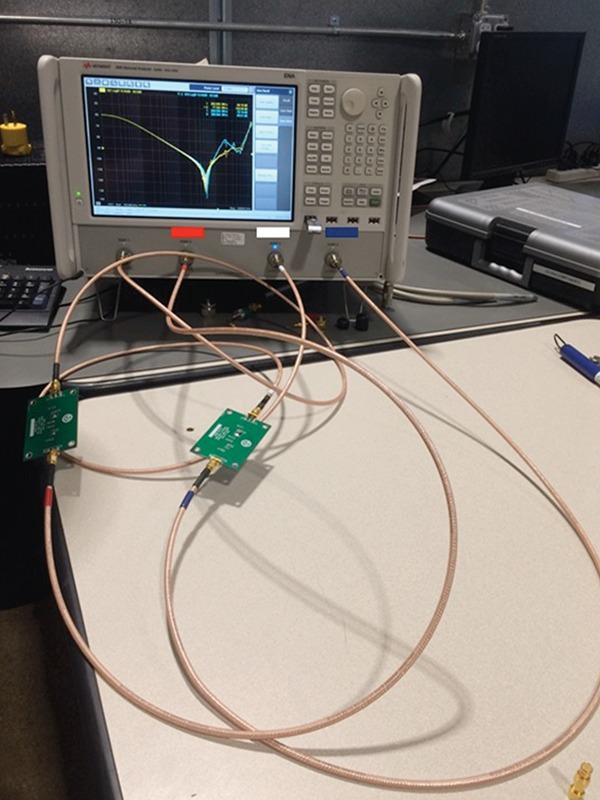Figure 10: EMC filter VNA measurement setup
