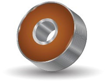 Fig.2. Many different types of material can be used to make the capacitor, but the most common material today is ceramic.