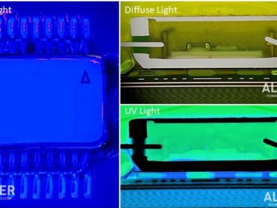 Inspection of conformal coating on PCB using UV Light
