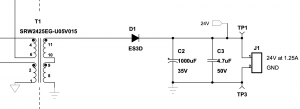 """Figure 9: Example of DC-DC Output Smoothing (""""TI Highline Flyback"""")"""