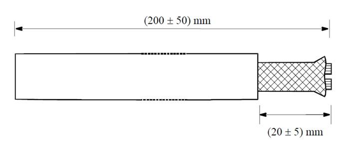Test sample for ECSS-Q-ST-70-20C