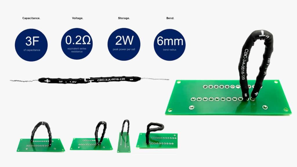 Capacitech's flexible supercapacitor