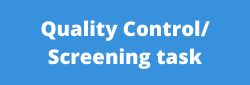 Quality Control Screening task