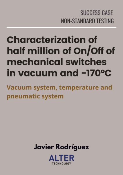 Characterization of mechanical switches in vacuum and -170ºC